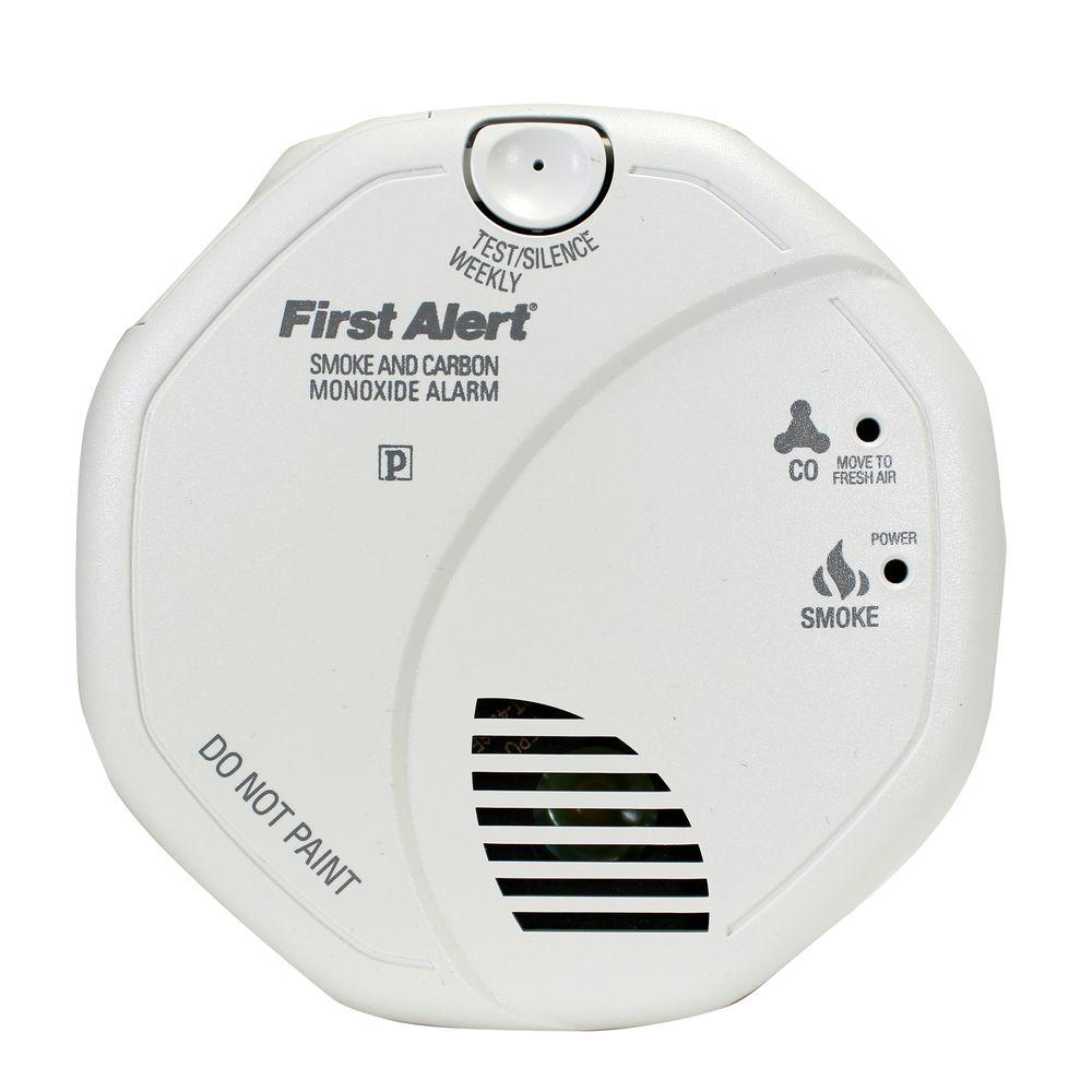 BRK Hardwired Interconnected Smoke and Carbon Monoxide Alarm with ...