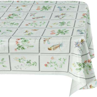 55 in. x  70 in. Indoor and Outdoor Butterfly Meadow Design Tablecloth for Dining Table