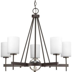 Progress Lighting Compass Collection 5-Light Antique Bronze Chandelier with Shade with... by Progress Lighting