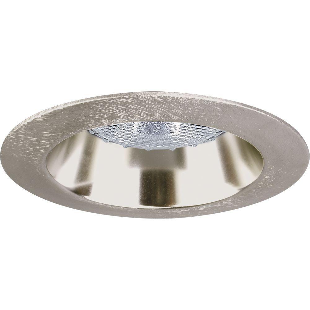 4 in. Brushed Nickel Recessed Open Trim