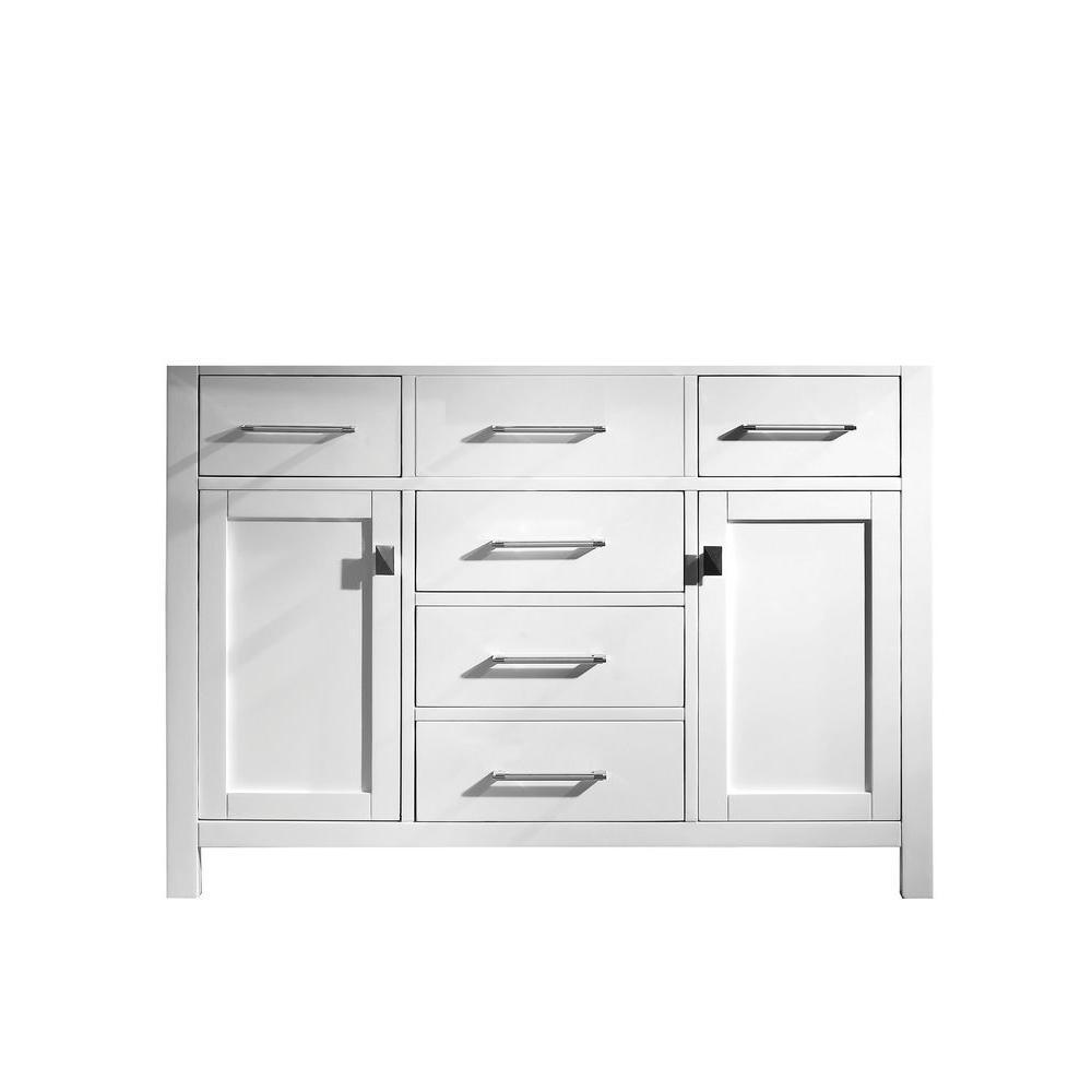 Caroline 47.24 in. W x 21.65 in. D x 33.46 in. H Vanity Cabinet in Elegant White