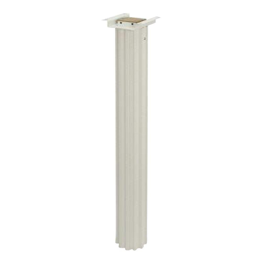 60 in. Aluminum Senator Post in White