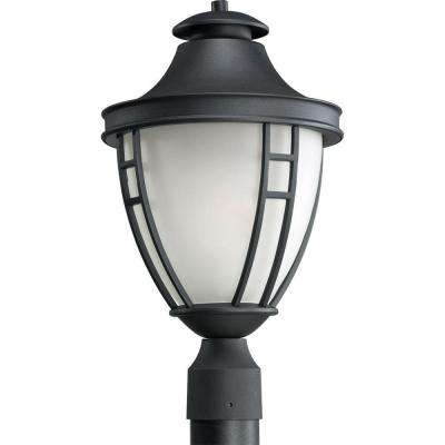 Fairview Collection Outdoor Textured Black Post Lantern