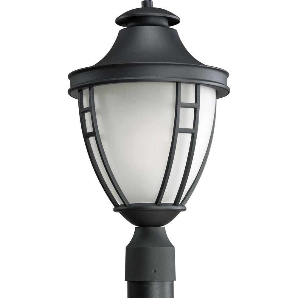 Fairview Collection Outdoor Textured Black Post Lantern