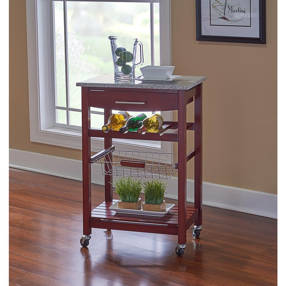 Linon Home Decor Kitchen Island Granite Top 44037wenge 01 Kd