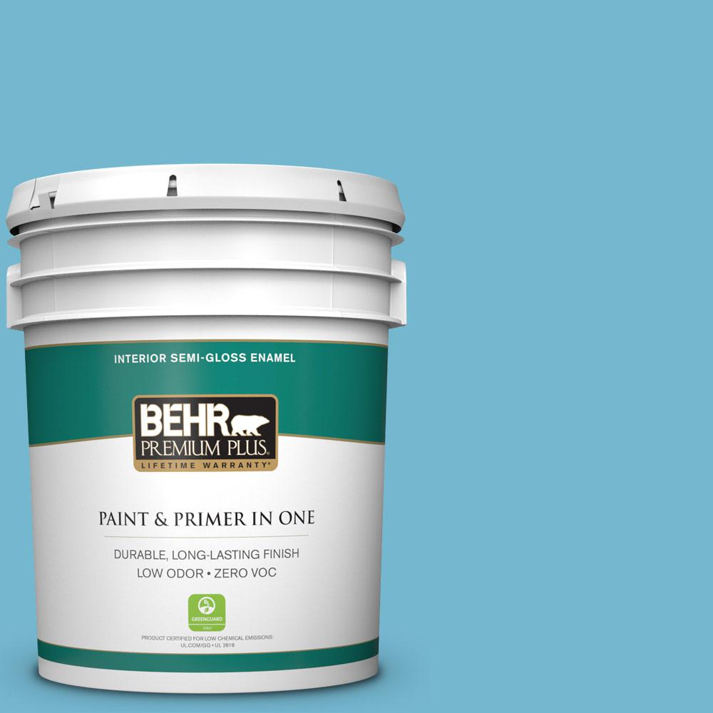 5-gal. #M480-4 Below Zero Semi-Gloss Enamel Interior Paint