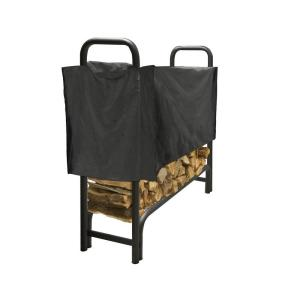 Pleasant Hearth 4 ft. Heavy Duty Firewood Rack with Half Cover by Pleasant Hearth