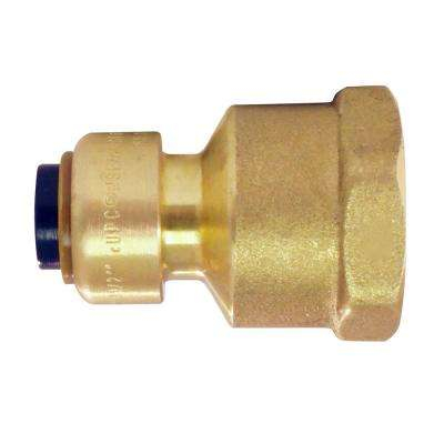 1/4 in. (3/8 in. O.D.) Brass Push-to-Connect x 1/2 in. Female Pipe Thread Reducing Adapter