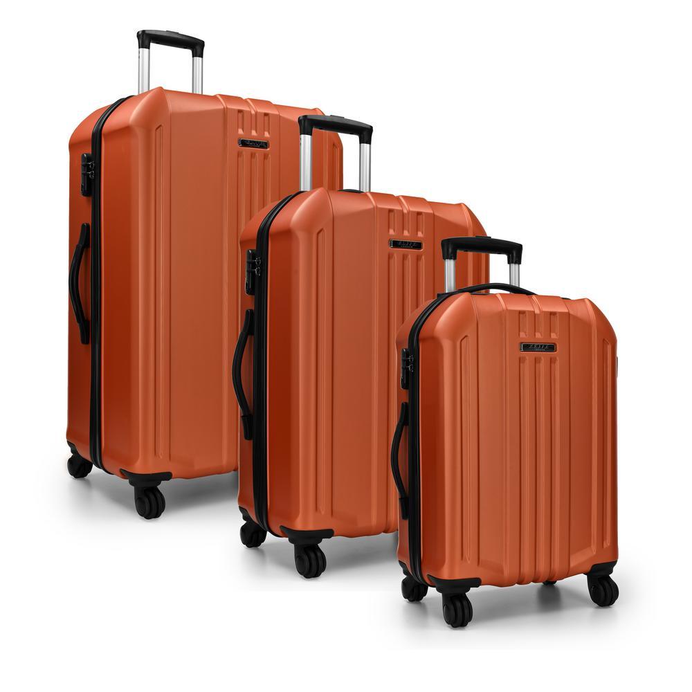 Elite Luggage Elite Luggae Long Beach 3-Piece Orange Hardside Spinner Luggage
