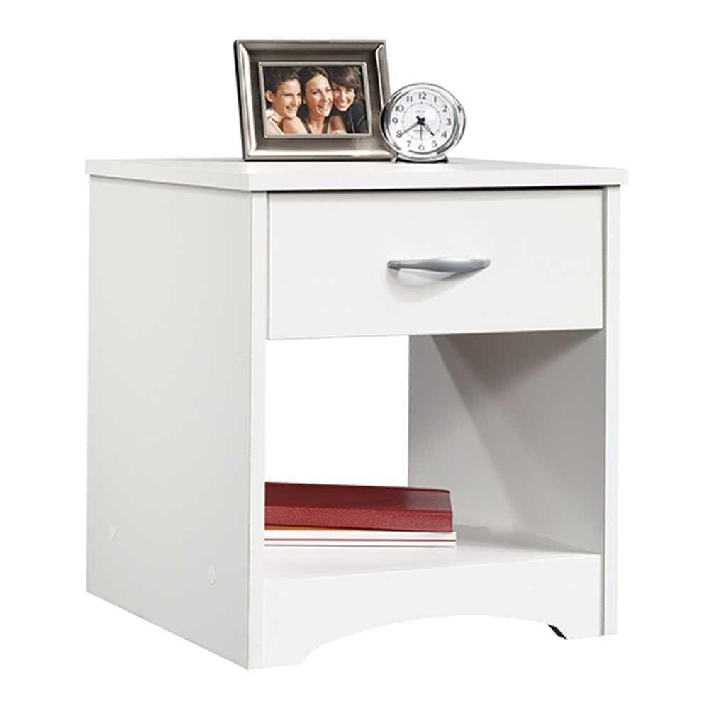 SAUDER Beginnings 1 Drawer Soft White Nightstand