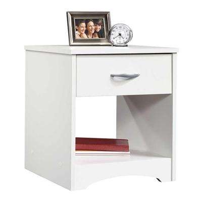 Beginnings 1-Drawer Soft White Nightstand