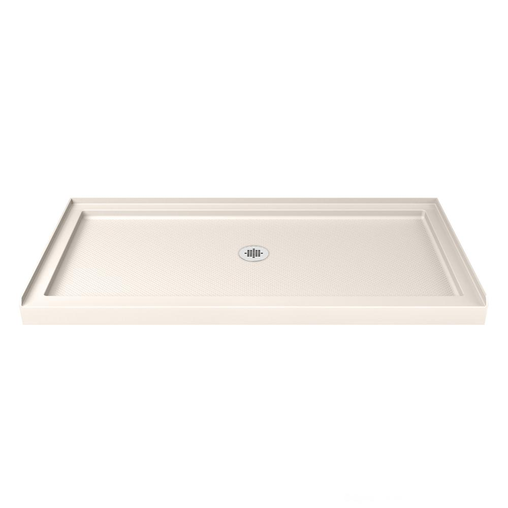 Gentil DreamLine SlimLine 32 In. X 60 In. Single Threshold Shower Base In Biscuit  With