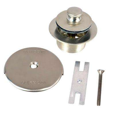 1.865 in. Overall Diameter x 11.5 Threads x 1.25 in. Push Pull Trim Kit, Brushed Nickel