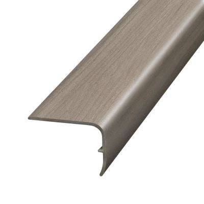 Aged Timber Light Grey 1.32 in. Thick x 1.88 in. Wide x 78.7 in. Length Vinyl Stairnose Molding