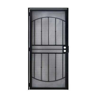 32 in. x 80 in. 805 Series Black Defender Security Door