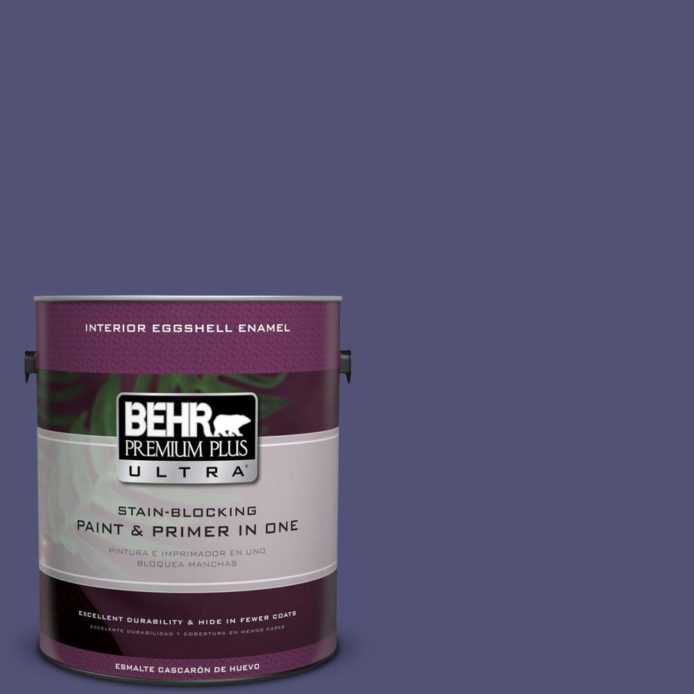 BEHR Premium Plus Ultra 1-gal. #630D-7 Deep Orchid Eggshell Enamel Interior Paint
