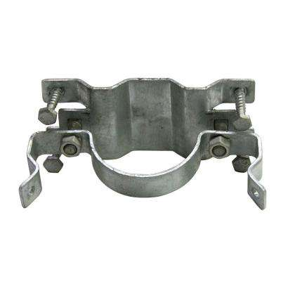 Oz-Post JAWSII 2-3/8 in. Galvanized Steel Fence Bracket Full Wrap (24 per Box)