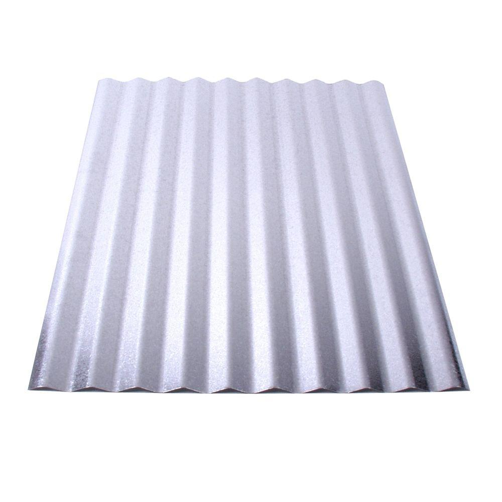 Fabral 8 ft Galvanized Steel Corrugated Roof Panel4736051000 The