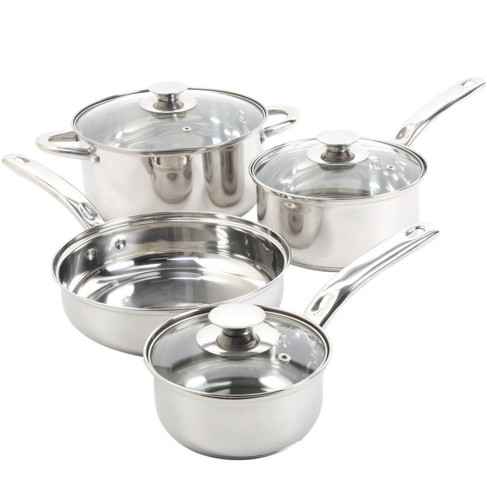 Sunbeam Ansonville 7 Piece Stainless Steel Cookware Set