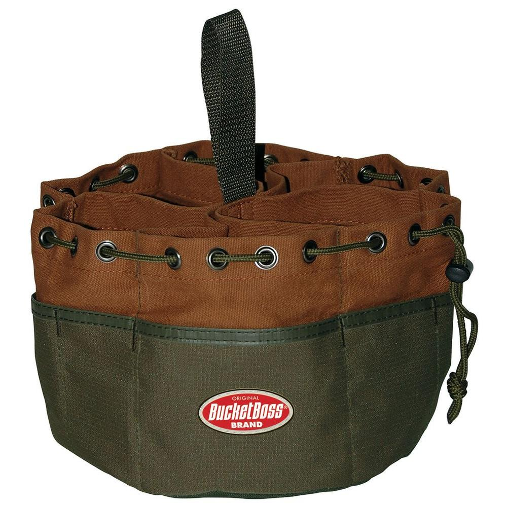 Bucket Boss Parachute Bag 10 in. Parts Bag, Brown
