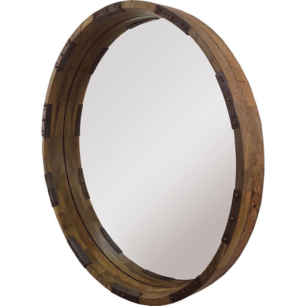 Renwil Industria 30 inch H x 30 inch W Round Mirror by Renwil