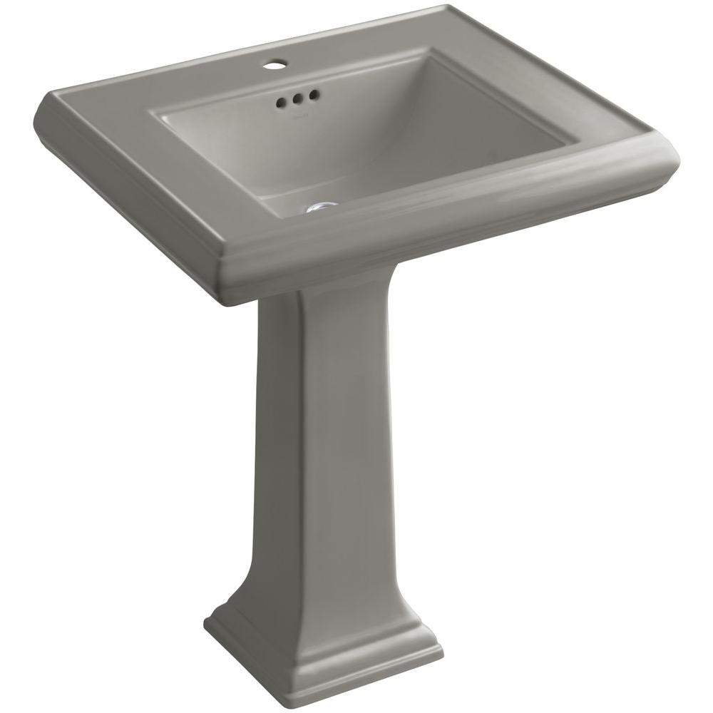 Kohler Memoirs Ceramic Pedestal Bathroom Sink In Cashmere