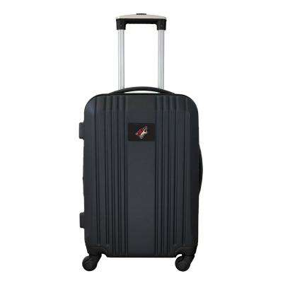 NHL Phoenix Coyotes 21 in. Black Hardcase 2-Tone Luggage Carry-On Spinner Suitcase