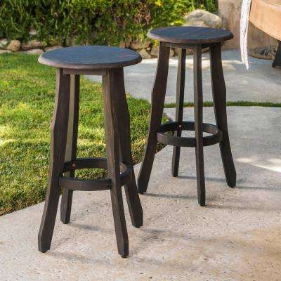 Meredith Wood Outdoor Bar Stool (2-Pack)