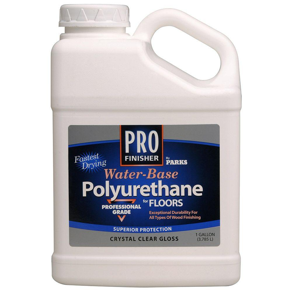 Rust-Oleum Parks Pro Finisher 1 gal. Clear Gloss Water-Based Polyurethane for Floors (4-Pack)
