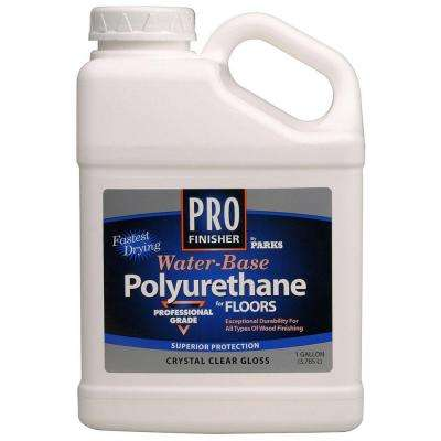 1 gal. Clear Gloss Water-Based Interior Polyurethane for Floors (Case of 4)
