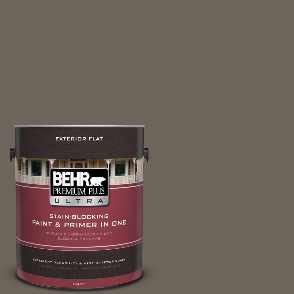 BEHR Premium Plus Ultra 1-gal. #N360-6 Patio Stone Flat Exterior Paint