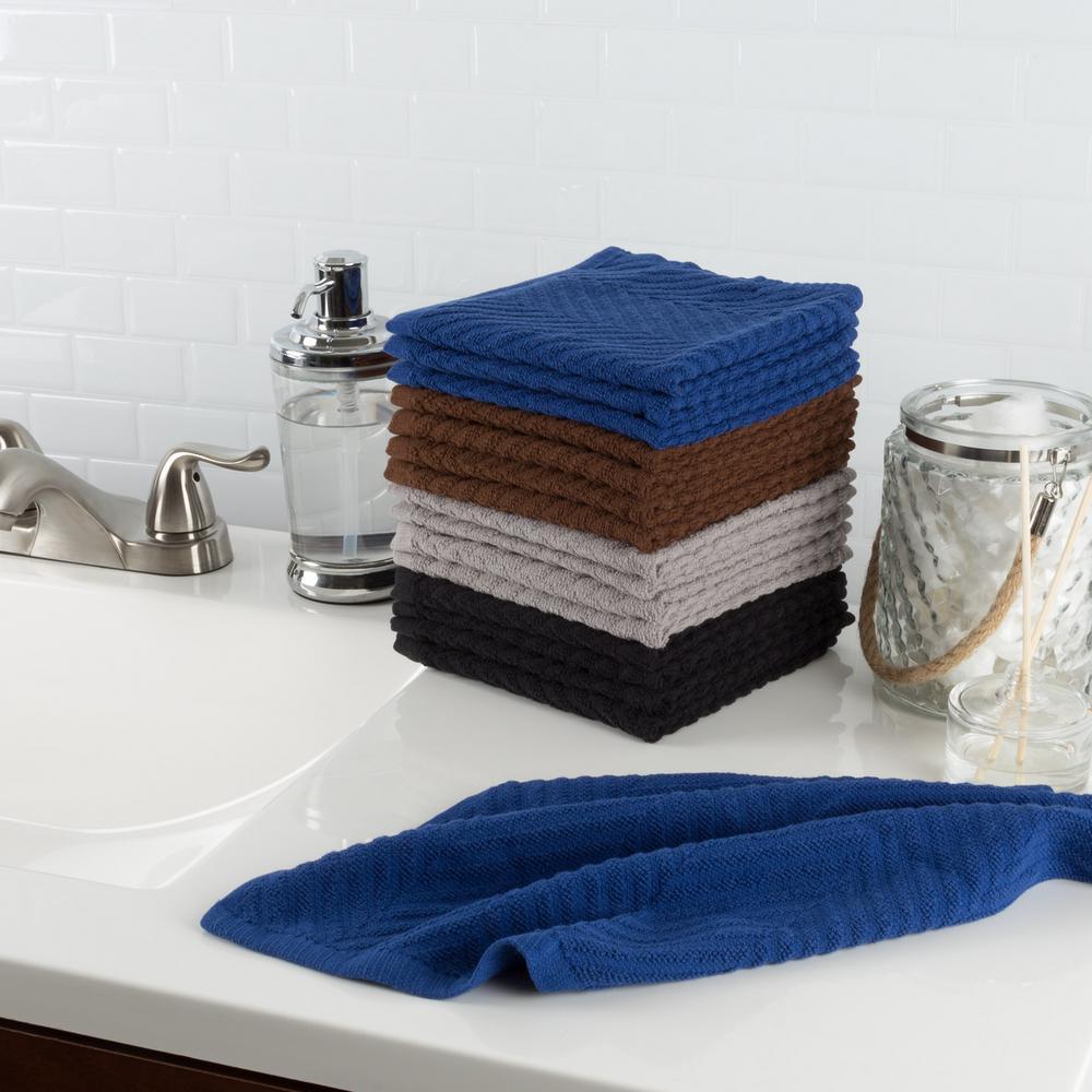 Multi Chevron Pattern Cotton Kitchen Towels (Set of 16)