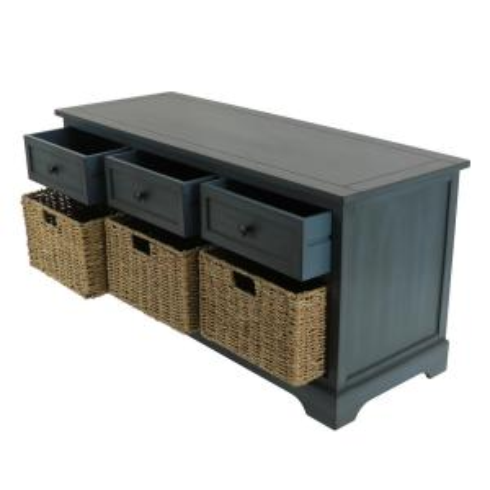 Amazing Montgomery Antique Navy Storage Bench Theyellowbook Wood Chair Design Ideas Theyellowbookinfo