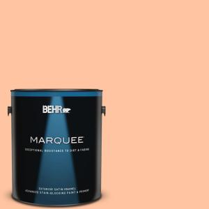Behr Marquee 1 Gal P200 3 Tomorrows Coral Satin Enamel Exterior Paint And Primer In One 945401 The Home Depot