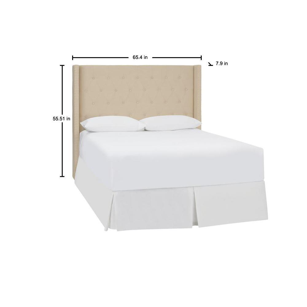 Stylewell Highfield Khaki Beige, Width Of Headboard For Queen Size Bed