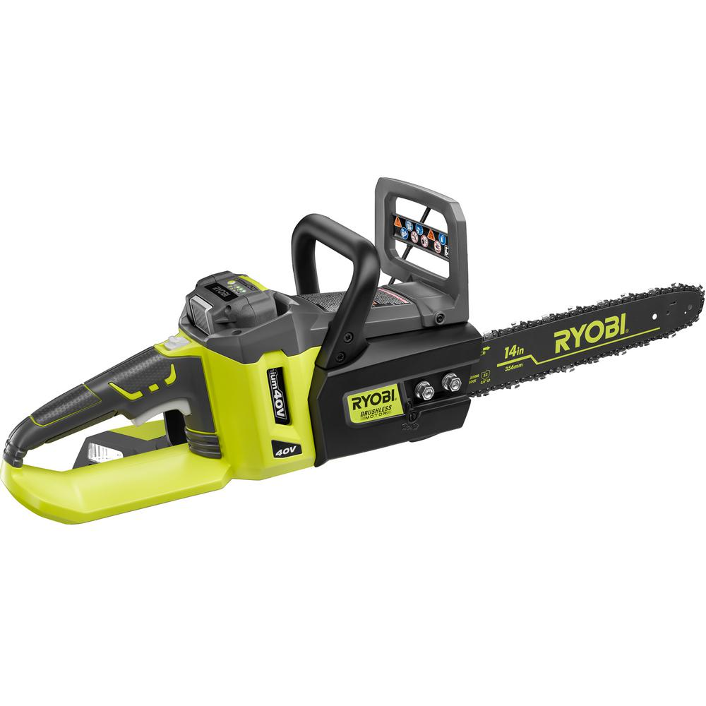 Ryobi Reconditioned 14 in. 40-Volt Lithium-Ion Brushless ...