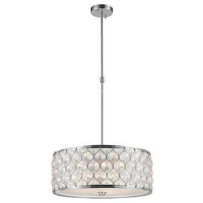 Paris 1-Light Polished Chrome with Clear Crystal Pendant