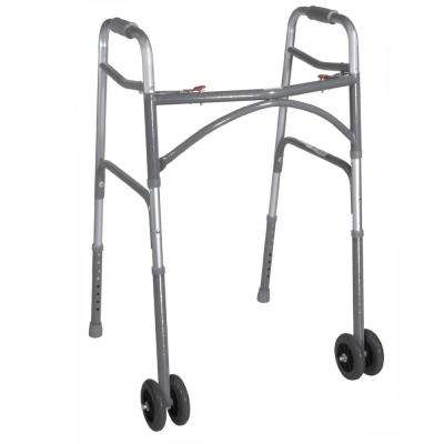 Heavy Duty Bariatric 2-Button Walker with Wheels