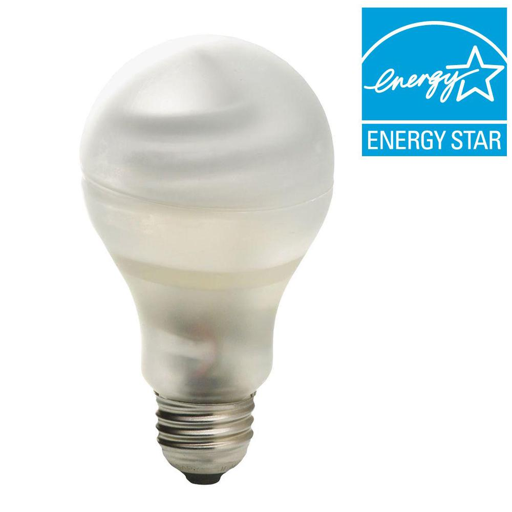 GE 60W Equivalent Soft White A19 CFL Light Bulb (2-Pack)