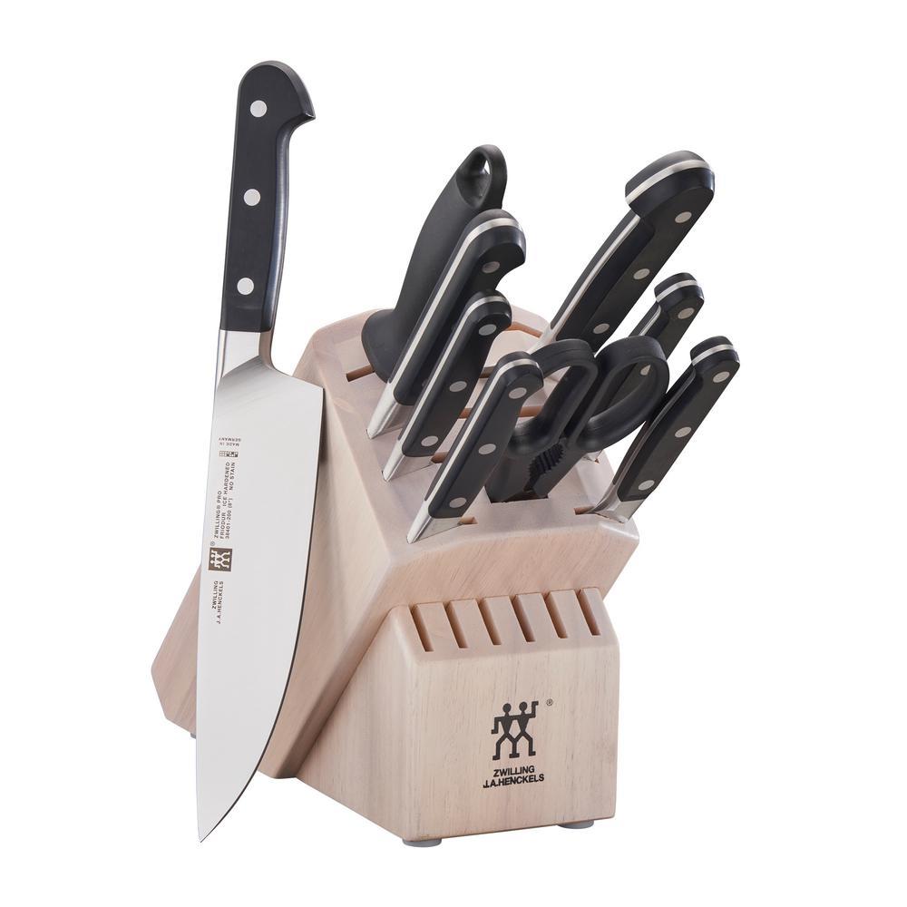Pro 10-Piece White Knife Block Set