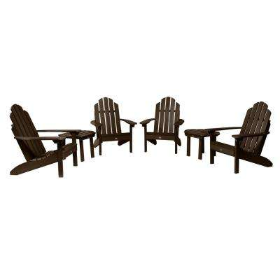 Classic Wesport Weathered Acorn 6-Piece Plastic Patio Fire Pit Seating Set