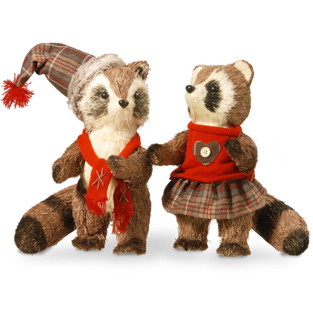 12 in. Raccoon Pair