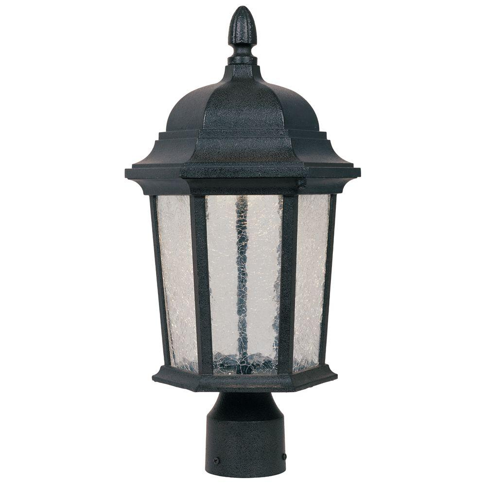 Outdoor Post Lights At Home Depot: Designers Fountain Abbington Driftwood Outdoor LED Post