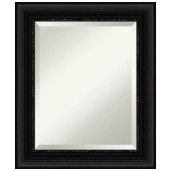 Amanti Art Medium Rectangle Parlor Black Beveled Glass Classic Mirror 25 5 In H X 21 5 In W Dsw4960723 The Home Depot