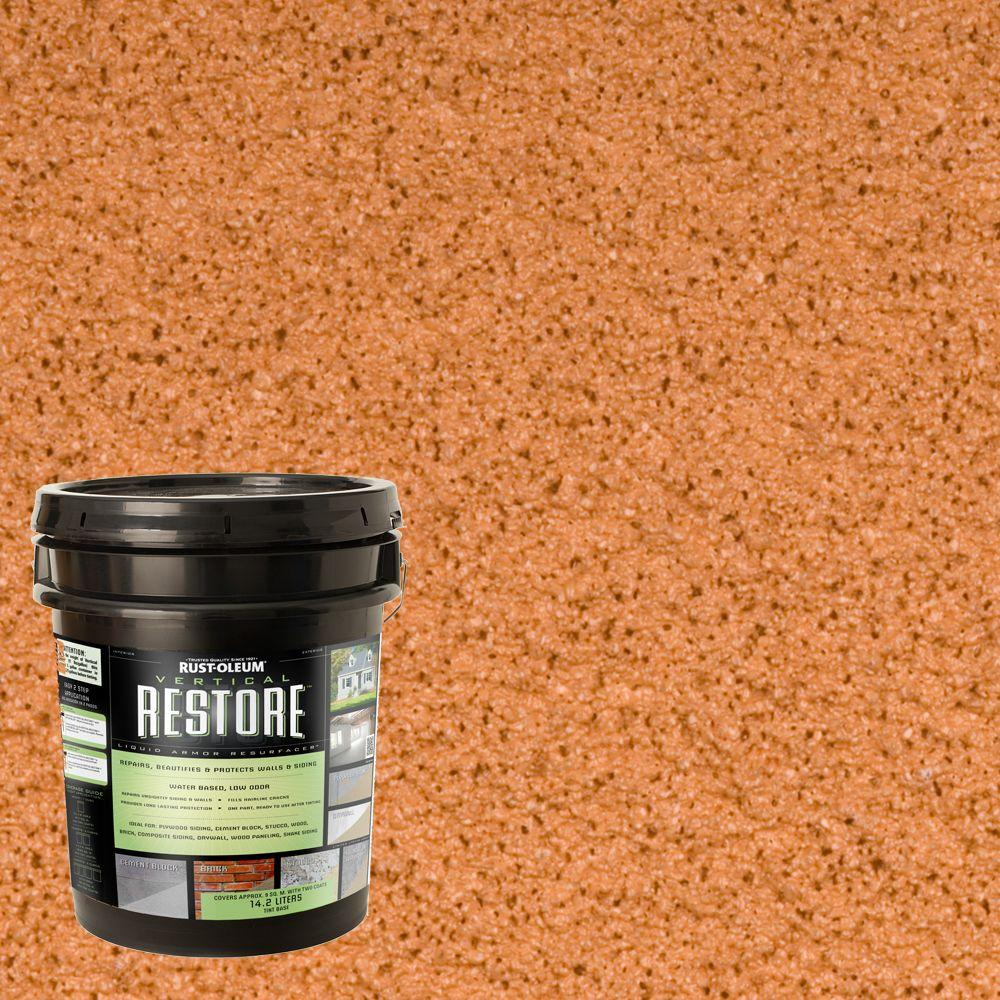 4-gal. Cedartone Vertical Liquid Armor Resurfacer for Walls and Siding