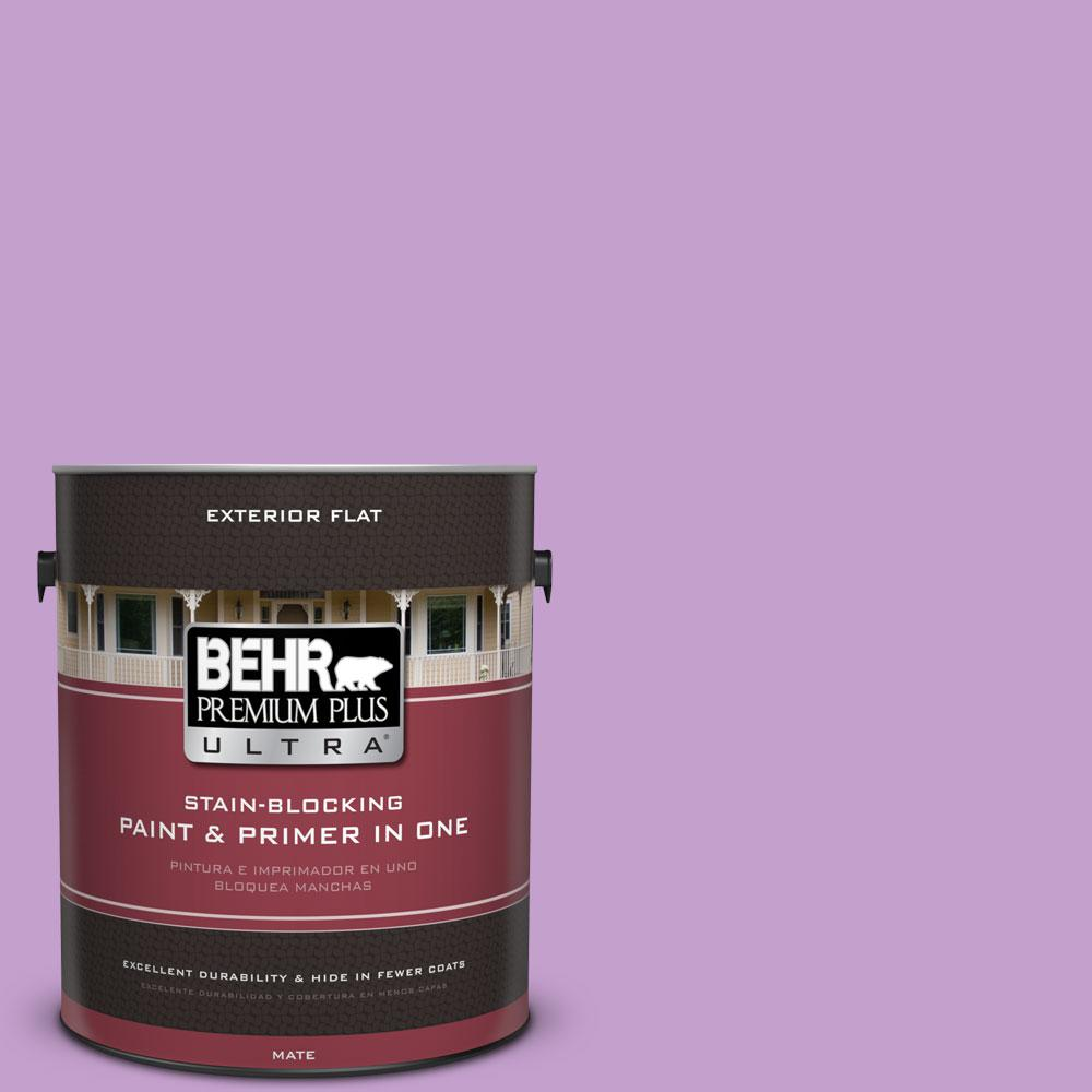 BEHR Premium Plus Ultra 1-gal. #P100-4 Lover's Knot Flat Exterior Paint
