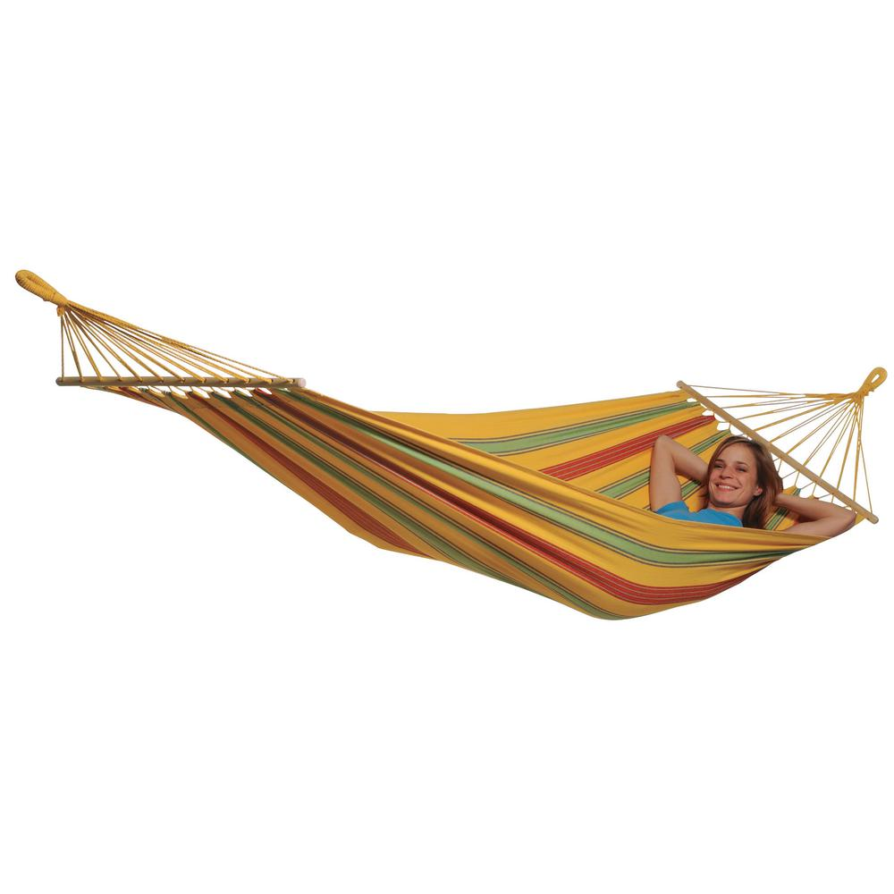 poly cotton hammock in yellow byer of maine 10 ft  2 in  poly cotton hammock in red eh250sr      rh   homedepot