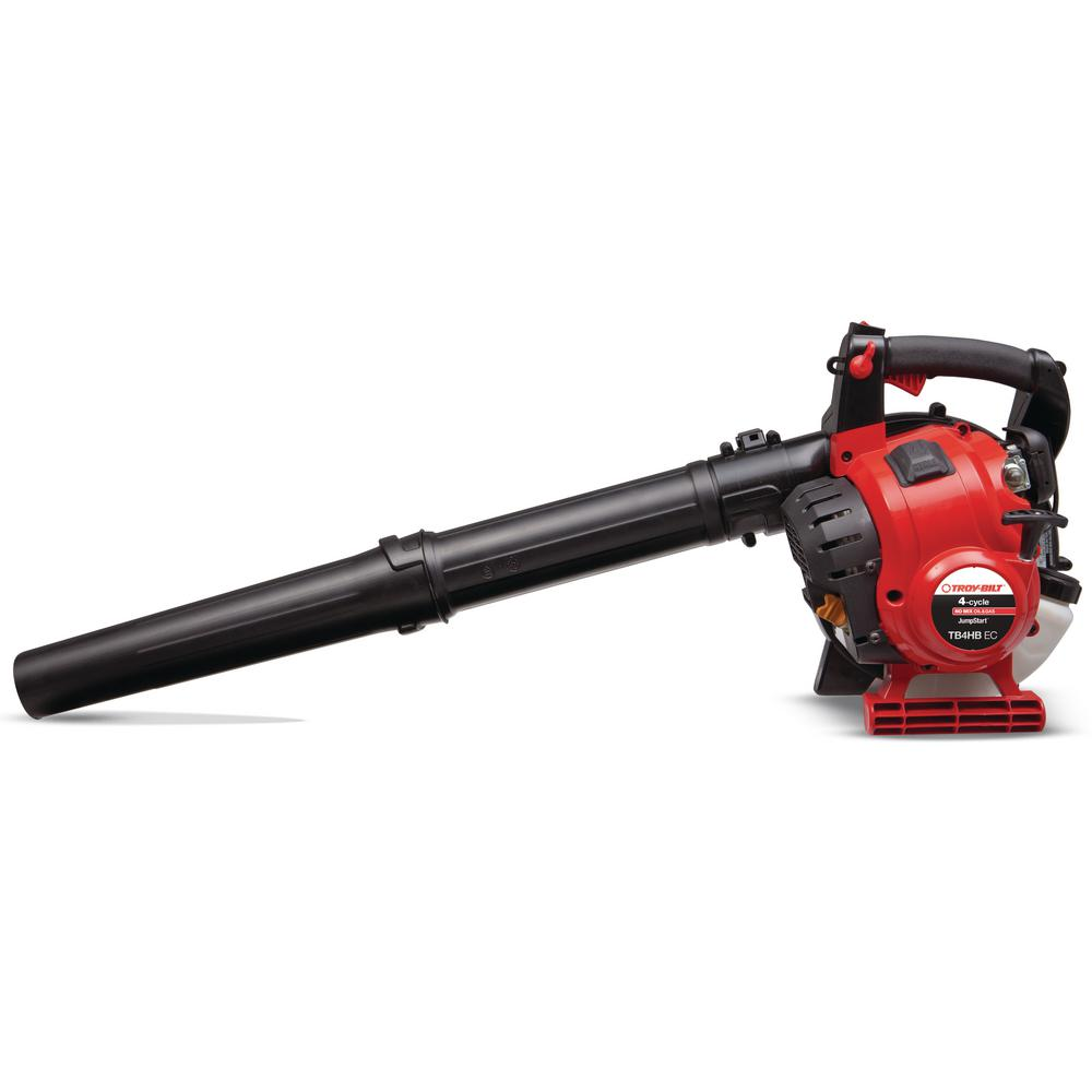 Troy-Bilt 150 MPH 450 CFM 4-Cycle 25cc Gas Handheld Leaf Blower with JumpStart Capabilities