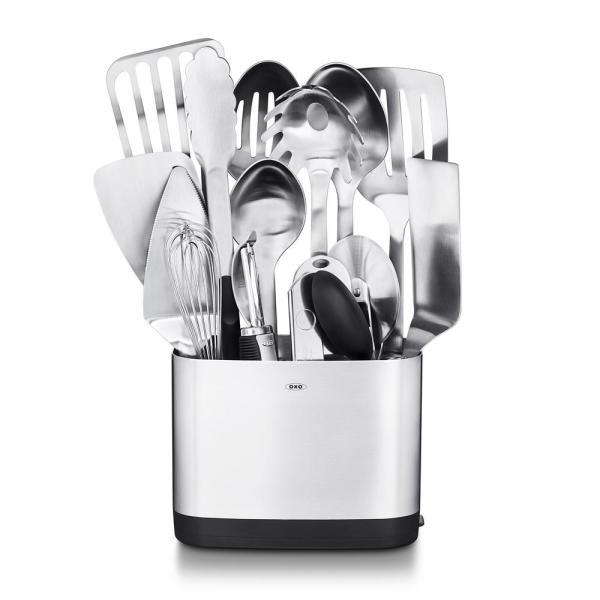 OXO Steel Kitchen Utensil Set (Set of 15) 3114600