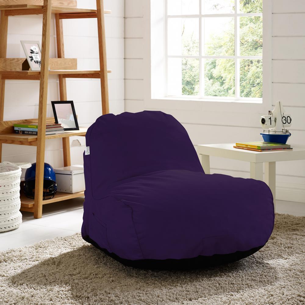 Cosmic Foam Purple Bean Bag Nylon Lounge Chair